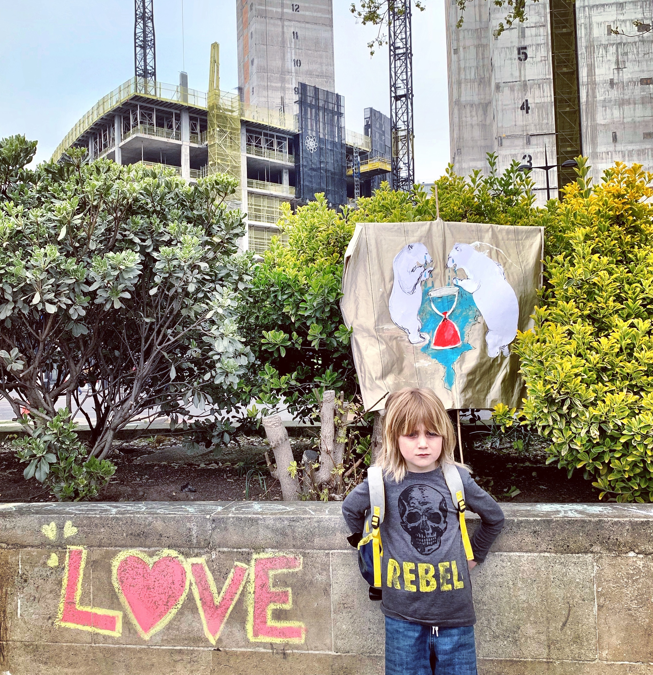 The sadness of a child in the face of the climate crisis.